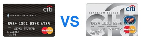 Both The Citi Diamond Preferred Card And Platinum Select Mastercard