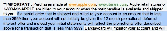 apple rewards card fees
