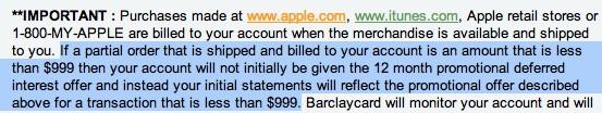 apple rewards card fees
