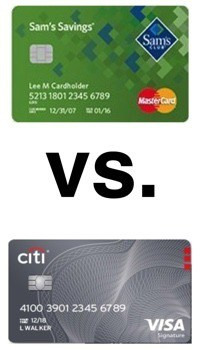 Sam's Club Credit Card vs. Costco Anywhere Visa Card by Citi