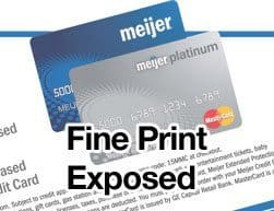Meijer Credit Card Review exposes the fine print