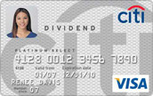 Citi Dividend Platinum Select Cash Back Credit Card