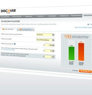 Develop a Debt Payoff Plan With Discover's Paydown Planner