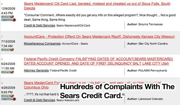 sears-credit-card-complaints