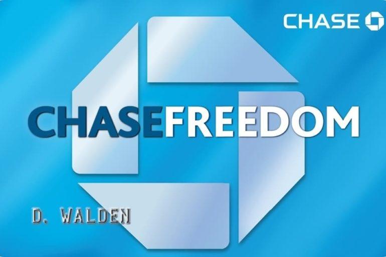 Chase Freedom Cash Back Rewards Credit Card